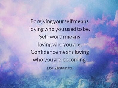 Forgiving, self-worth, confidence