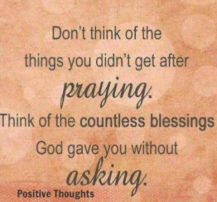 Countless blessings