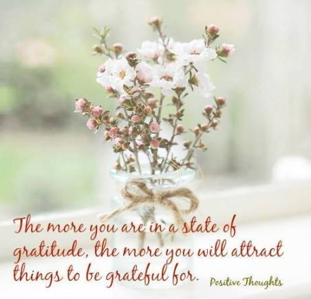 In a state of gratitude