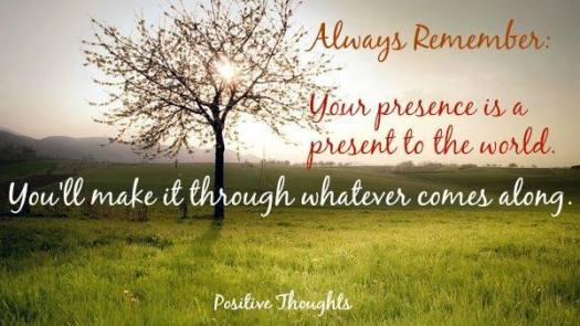 Your presence is a present
