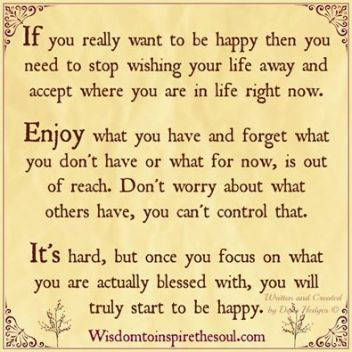 If you really want to be happy