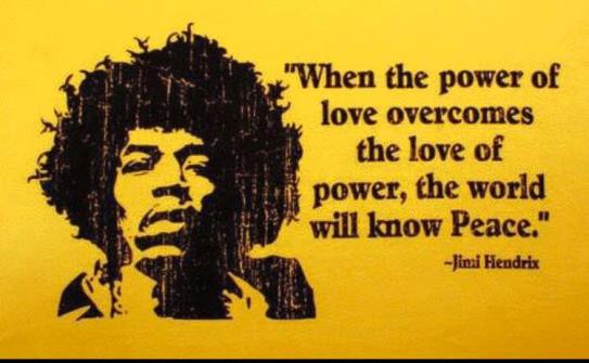 Jimi Hendrix peace quote
