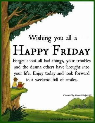 Pooh Happy Friday