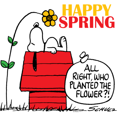 Snoopy Happy Spring