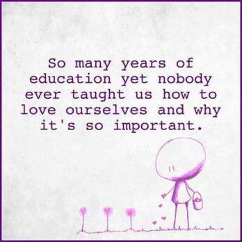 Nobody ever taught us