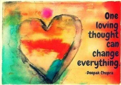 One loving thought