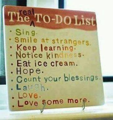 The Real to-do list