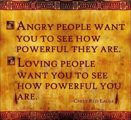 Angry people, loving people