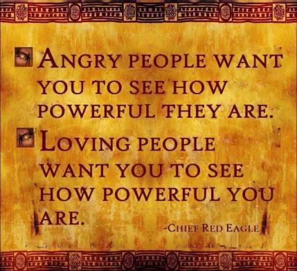Angry people, loving people