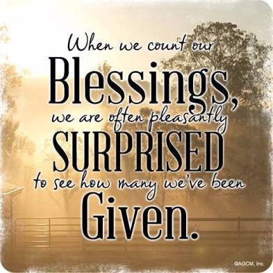 When we count our blessings