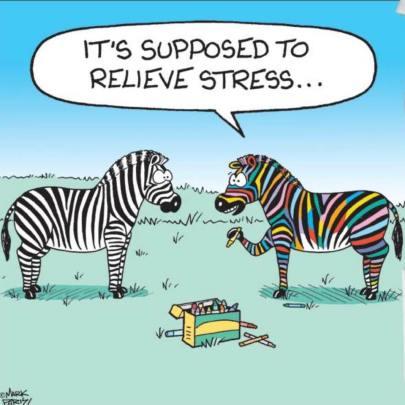 Coloring zebra