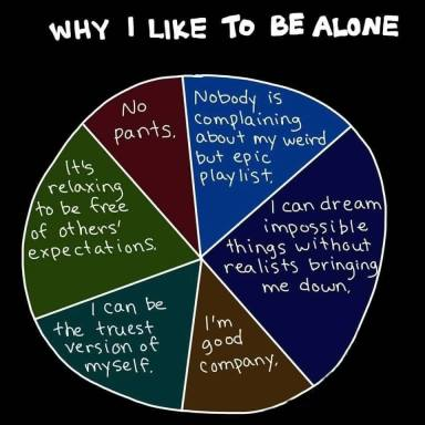 Why I like to be alone
