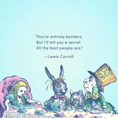 Alice in Wonderland bonkers quote