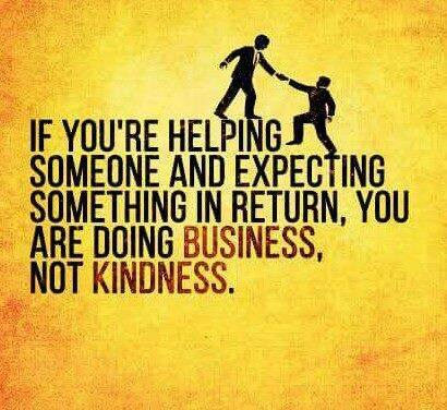 If you're helping someone