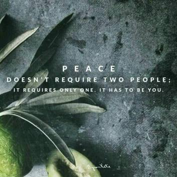 Peace doesn't require two people