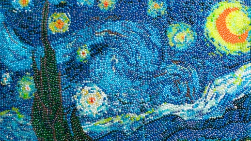 van-gogh-starry-night-in-jelly-beans